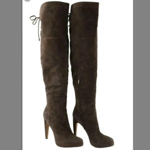 Sam Edelman Kayla OTK Brown Suede Boots 6.5